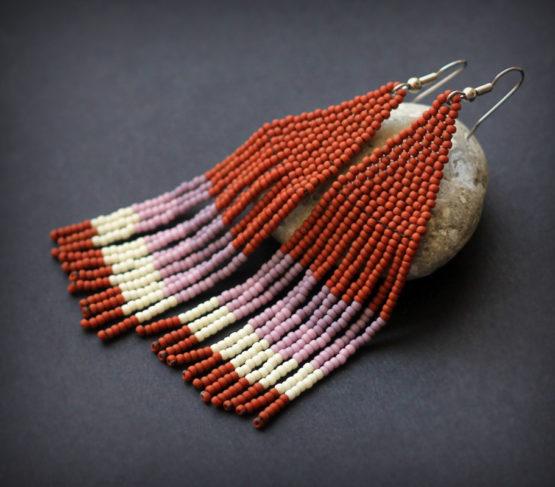 оригинальный подарок ручной работы купить серьги в стиле кантри