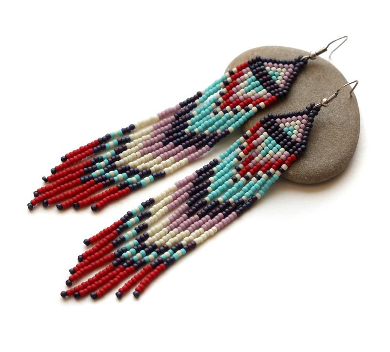 купить этнические украшения из бисера в интернет магазине