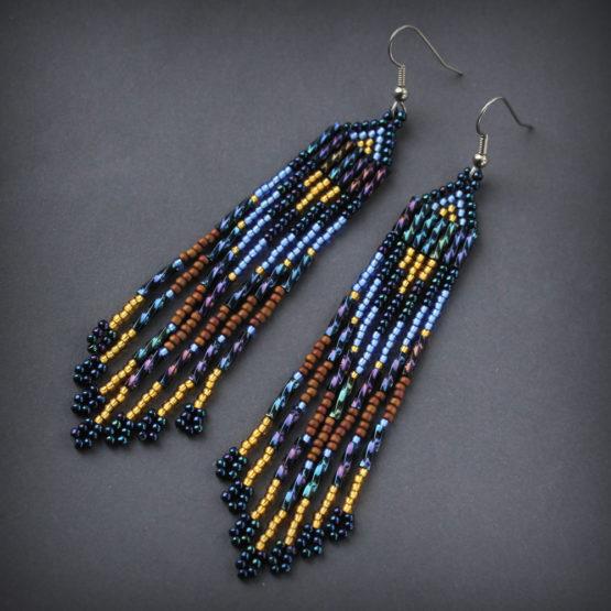 красивые серьги для женщин стильная бижутерия ручной работы