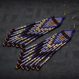 большие длинные серьги украшения ручной работы в стиле бохо