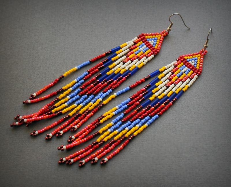 крупные стильные экстравагантные серьги купить бижутерия этно интернет магазин