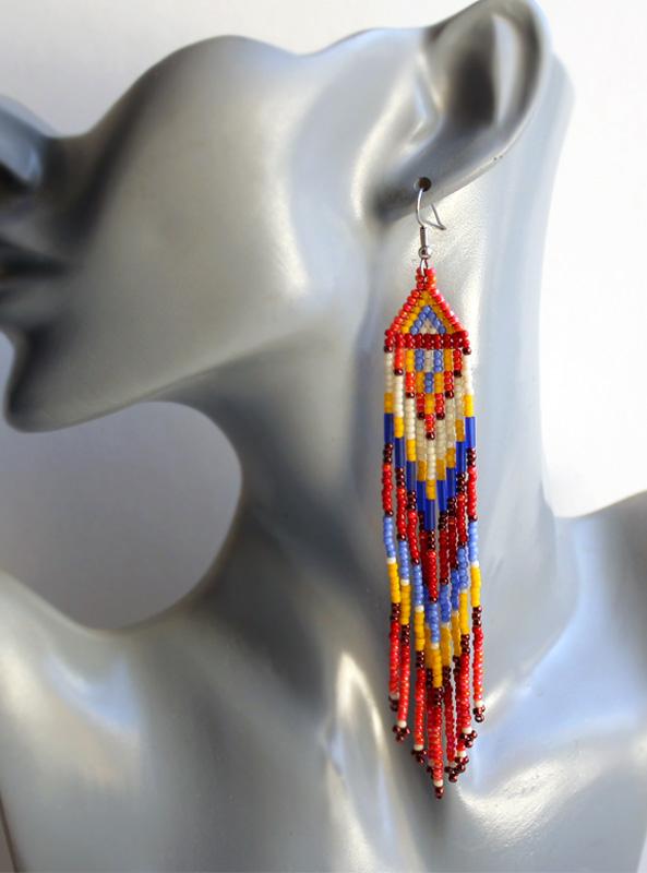 серьги в этническом стиле купить украшения в стиле хиппи