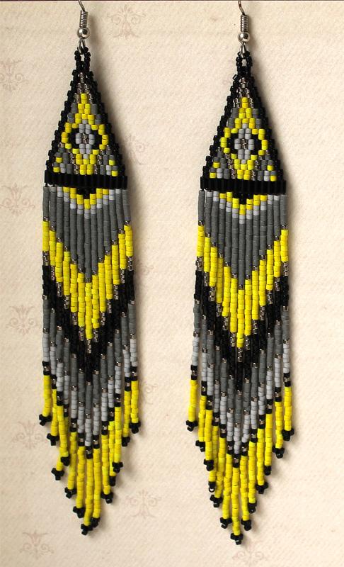 купить Яркие длинные серьги в стиле бохо