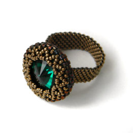 купить кольцо сваровски интернет магазин украшений из бисера ручной работы