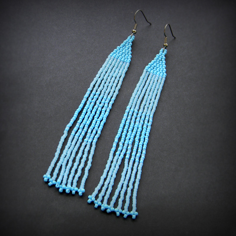 голубые серьги бижутерия интересные украшения купить большие висячие серьги сережки для женщин