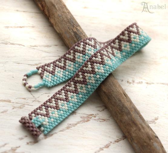 купить нежный бисерный браслет в стиле этно