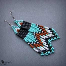 Купить сережки ручной работы из бисера в интернет-магазине