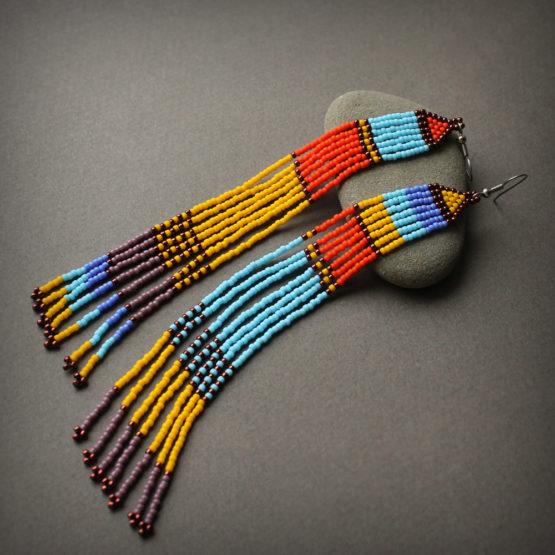 разноцветные серьги бижутерия купить интернет магазин