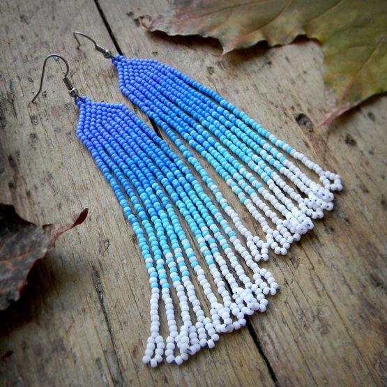 голубые серьги бижутерия серьги на выпускной купить