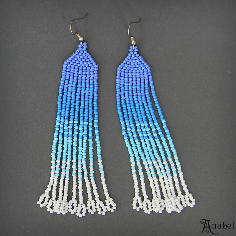 серьги голубого цвета украшения авторские купить анабель