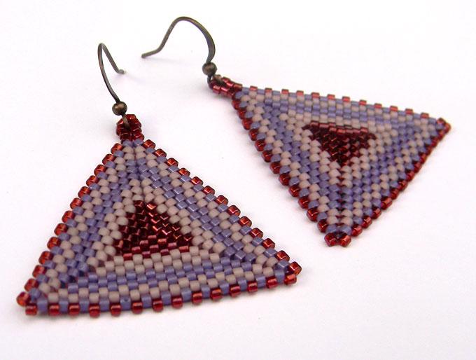 Большие висячие серьги треугольной формы бижутерия