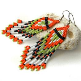 купить сережки ручной работы в стиле этно