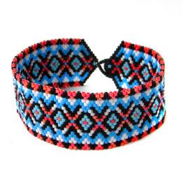 Купить молодёжный браслет из бисера интернет магазин этно украшений