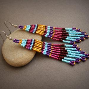 купить цветные серьги в стиле бохо