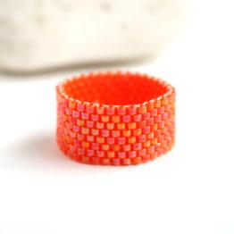 купить стильное оранжевое кольцо бижутерия размер 14 15 16 17 21