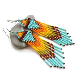 купить серьги из бисера в этно-стиле