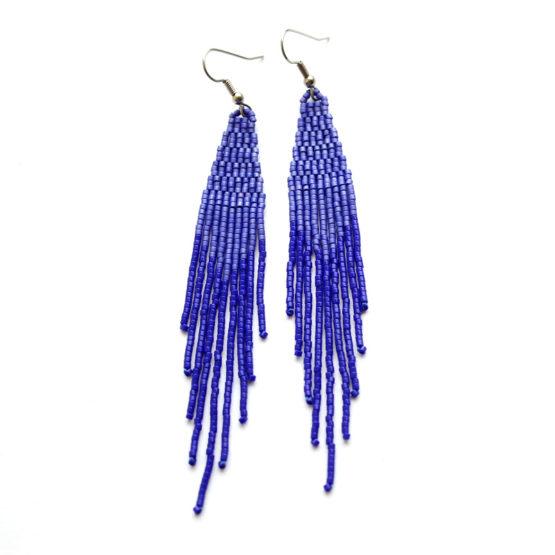 купить синие серьги женские синие висячие сережки ручной работы