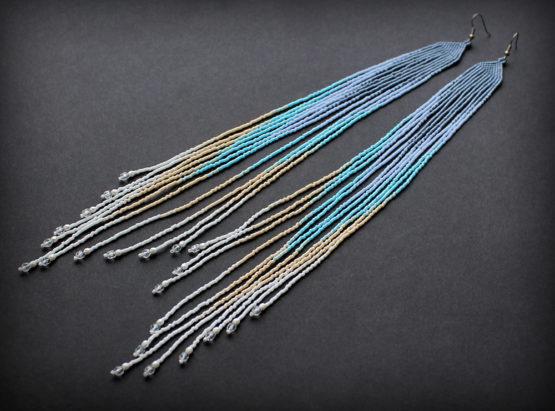 купить самые необычные очень длинные сережки в интернет магазине