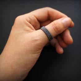 Купить модные мужские кольца на большой палец авторские подарки из бисера россия