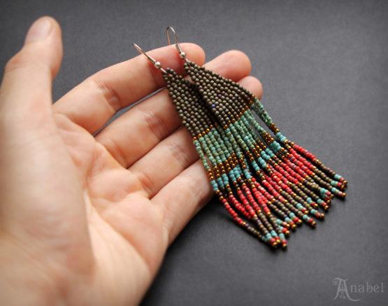 купить бохо-украшния ручной работы серьги