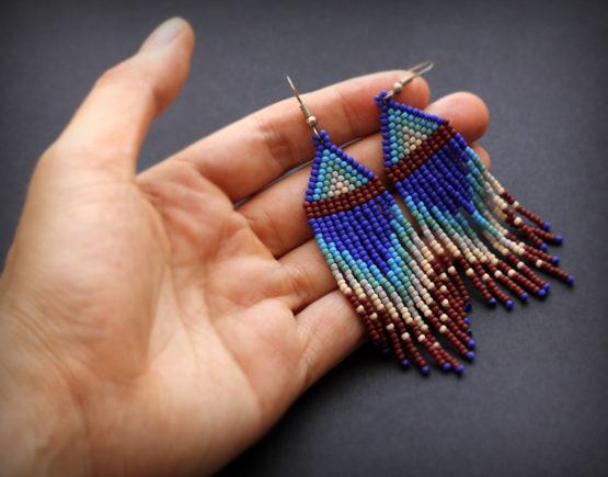 купить авторские необычные украшения ручной работы сережки