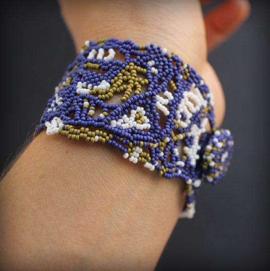 купить ажурный браслет в стиле бохо фриформ