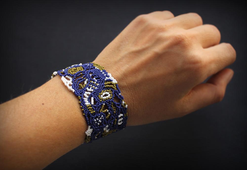 купить авторский бисерный браслет в стиле бохо онлайн