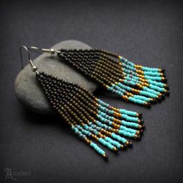 купить этнические сережки ручной работы подарок жене
