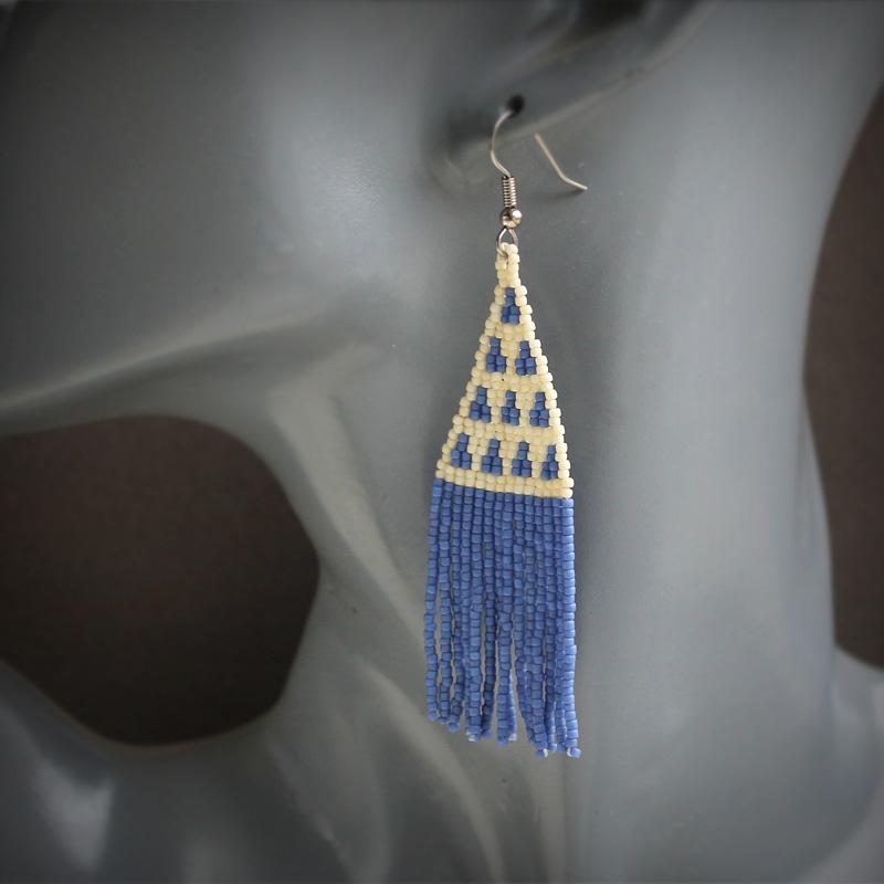 купить современную стильную бижутерию сережки висячие этно