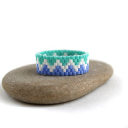 купить Оригинальное женское кольцо из бисера интернет магазин россия