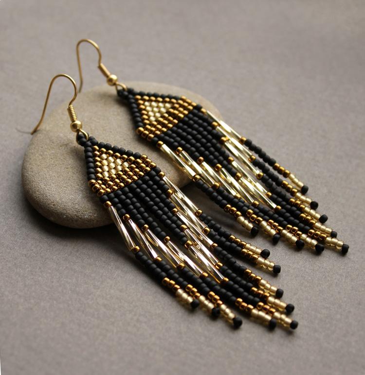 купить украшения из бисера ручной работы сережки