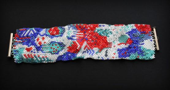 эксклюзивные женские браслеты из бисера в стиле фриформ