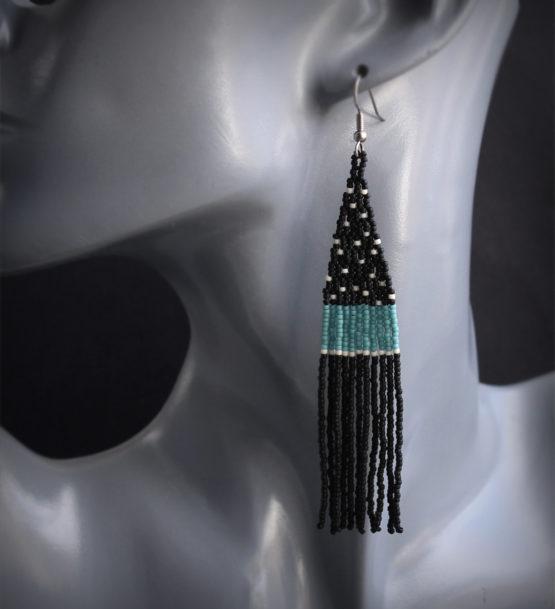 купить современные серьги из бисера бисероплетение эксклюзивные украшения