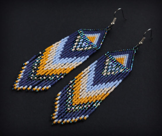 купить серьги из бисера с бахромой в стиле бохо бижутерия