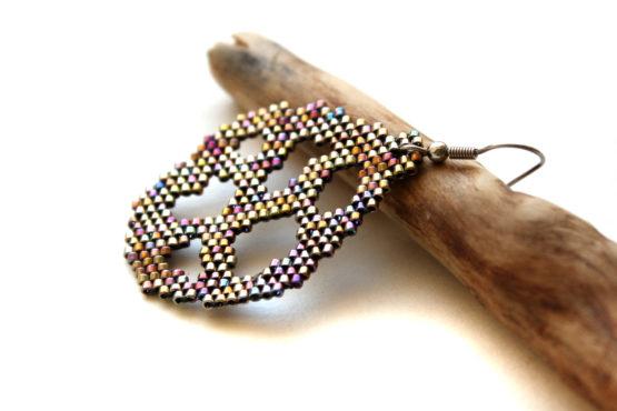 купить одиночную серьгу в ухо необычные украшения ручной работы