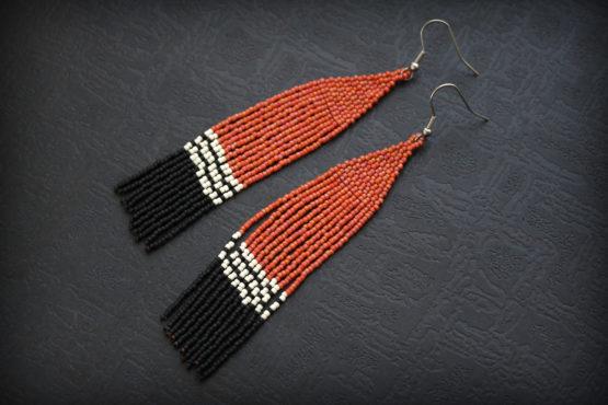 экстравагантные серьги этнически сережки купить