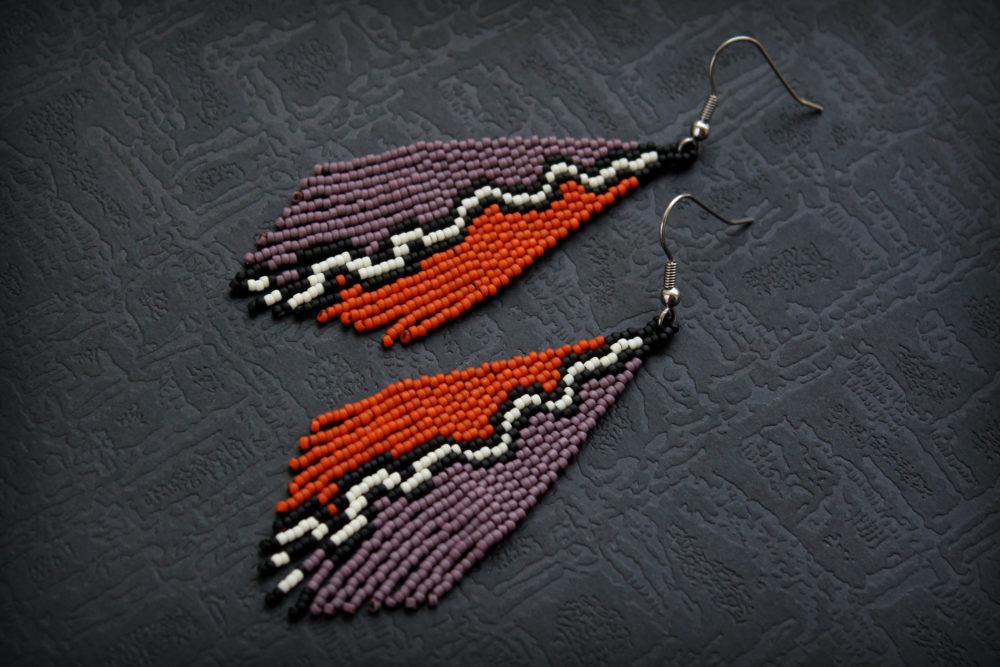 магазин этнических украшений серьги в стиле бохо купить