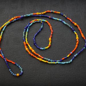 купить украшение на шею в стиле хиппи длинные бусы из бисера ярких цветов