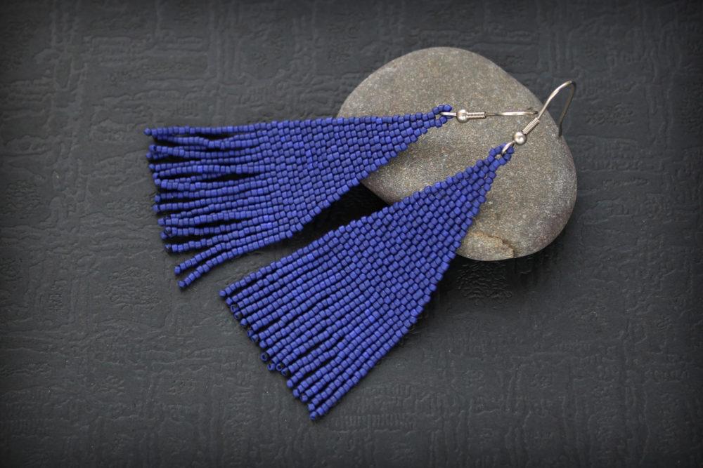 синие серьги фото подарок новой подруге