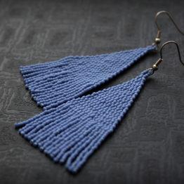 купить серьги для девушки стильные длинные серьги