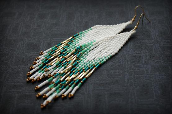 купить длинные серьги бижутерия в интернет магазине подарок девушке на новый год 2020 2021