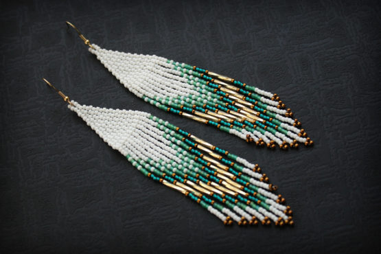 серьги в стиле этно сережки ручной работы фото