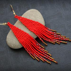 сережки красные купить в интернет магазине