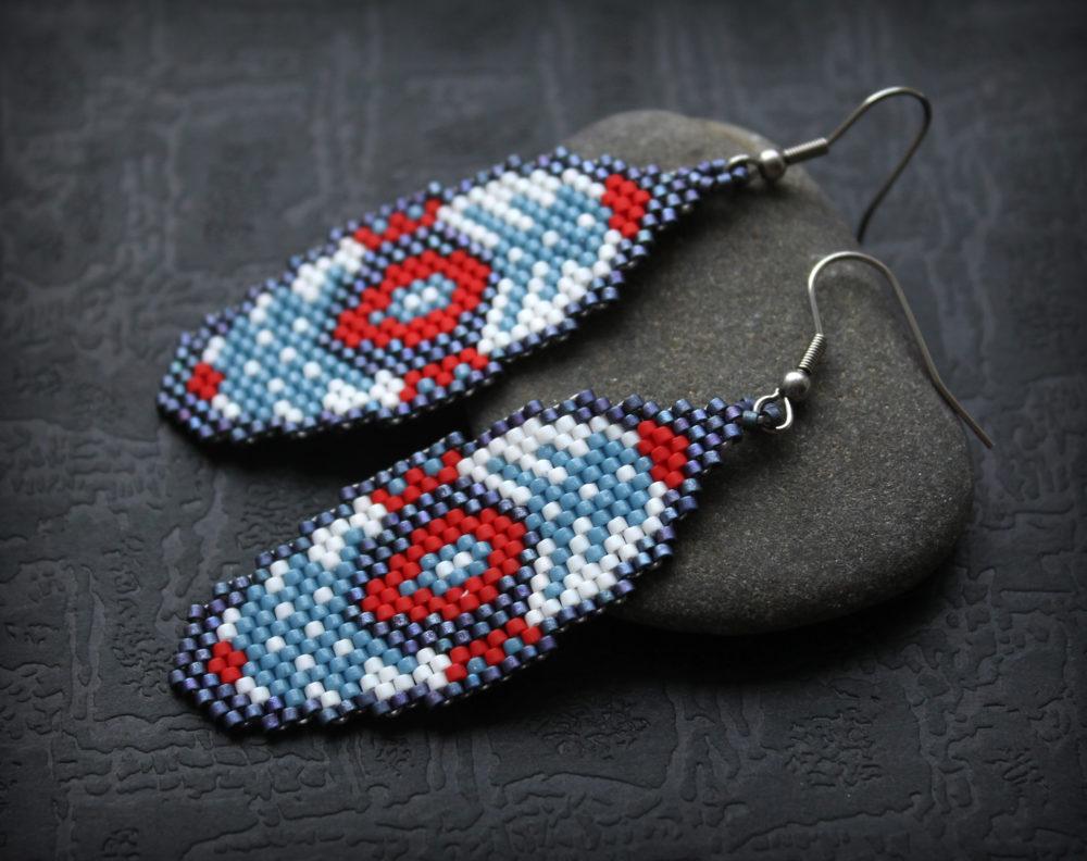нарядные серьги дизайнерские серьги ручной работы