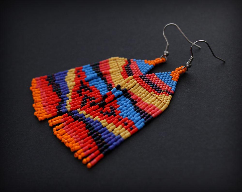 необычные серьги бижутерия ручной работы