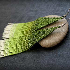 купить зеленые сережки