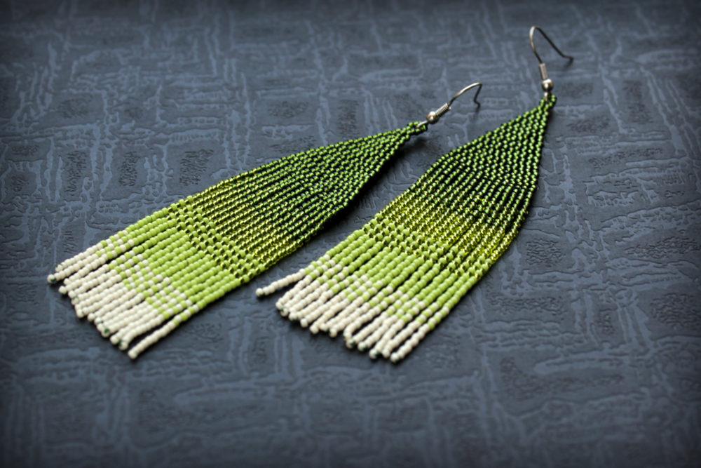 зеленые серьги купить