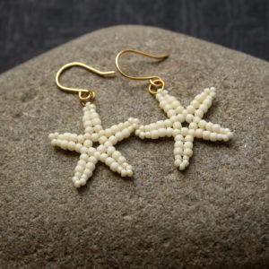 серьги морские звездочки из бисера купить