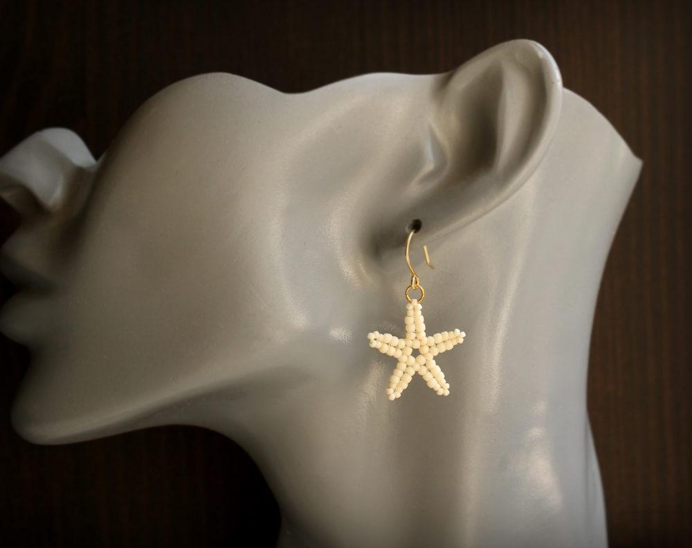 купить серьги морская звезда бижутерия