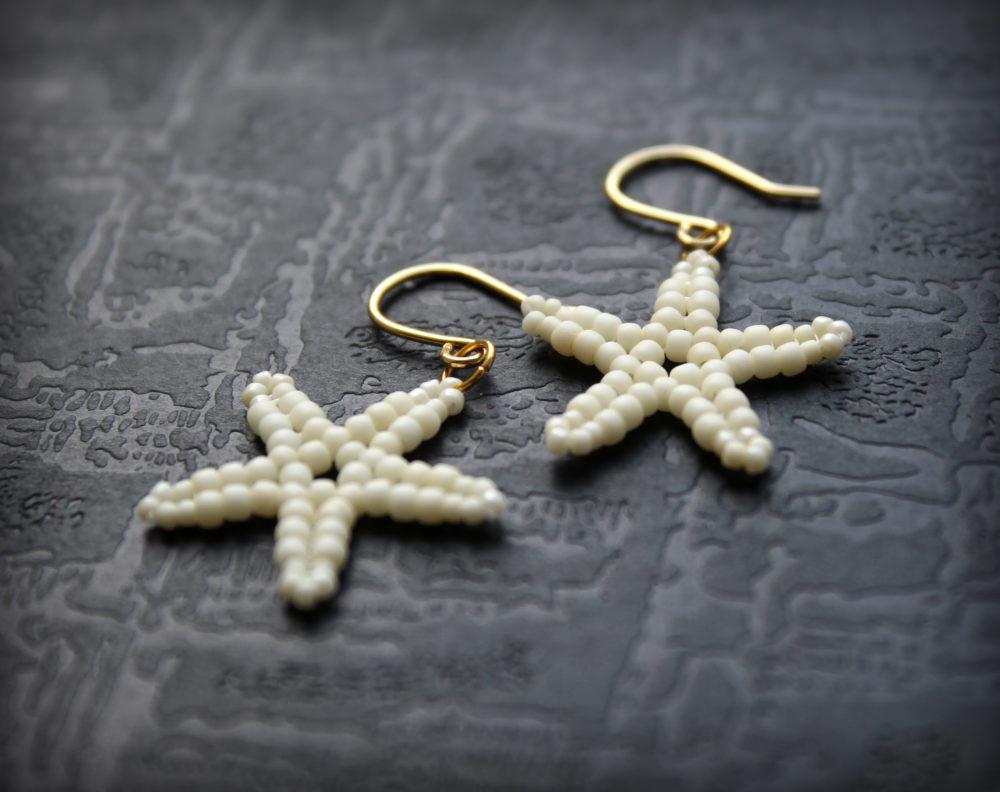 купить серьги в виде морской звезды бижутерия
